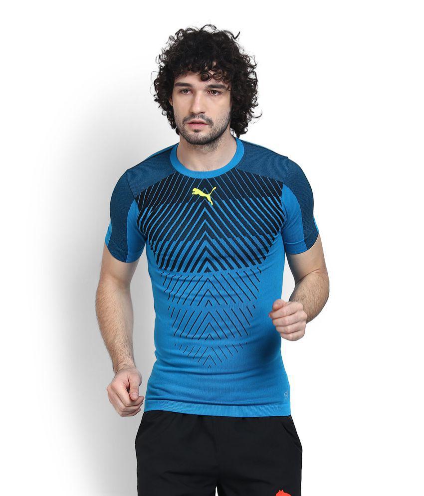 Puma Blue Nylon T Shirt
