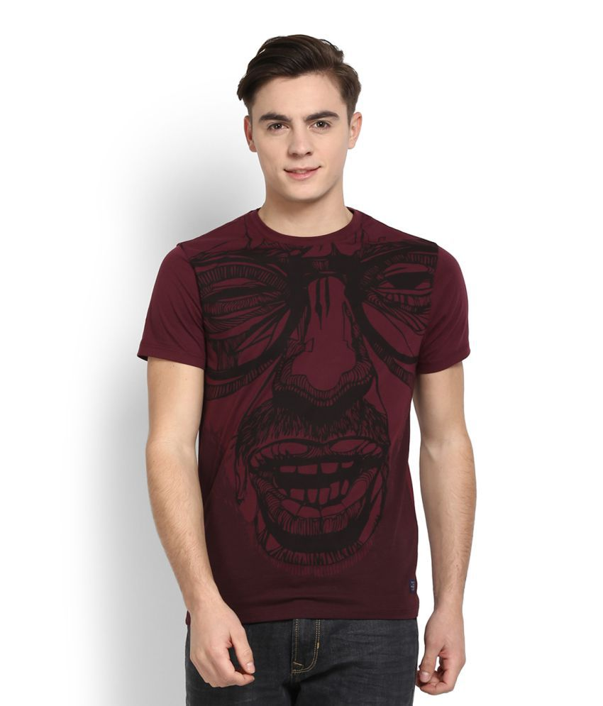 Peter England Red Round T Shirt