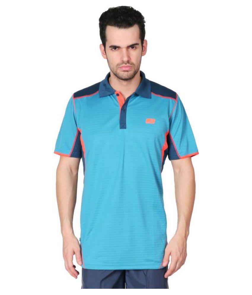 Vector X Light Blue Polyster T-Shirt