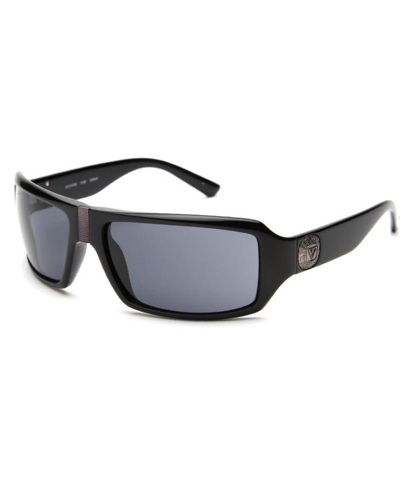 Guess Grey Rectangle Sunglasses ( GU 6562 BLK-3 )