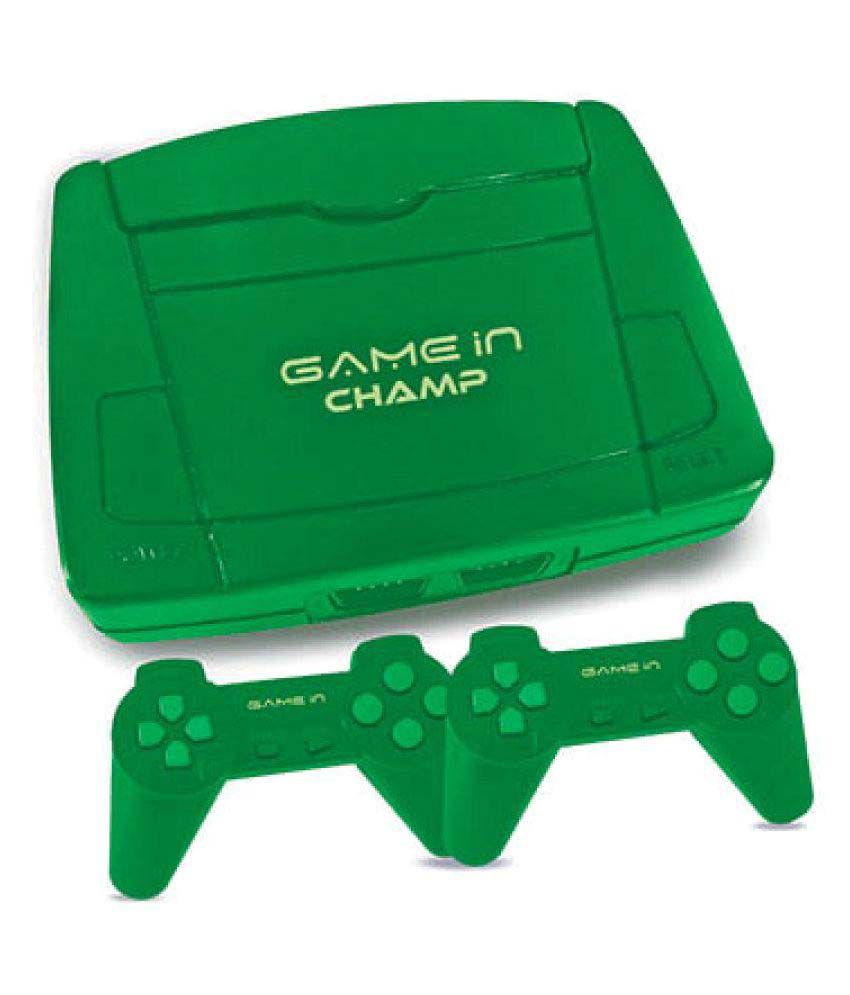 Mitashi Game In Champ Gaming Console with In Built Games-Green