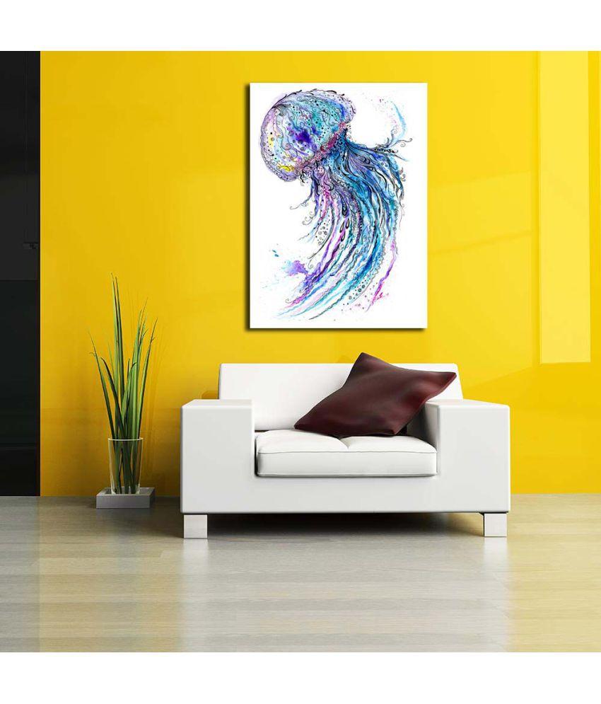 Pitaara Box Creative Sea Life Art PVC Vinyl Multicolour Wall ...