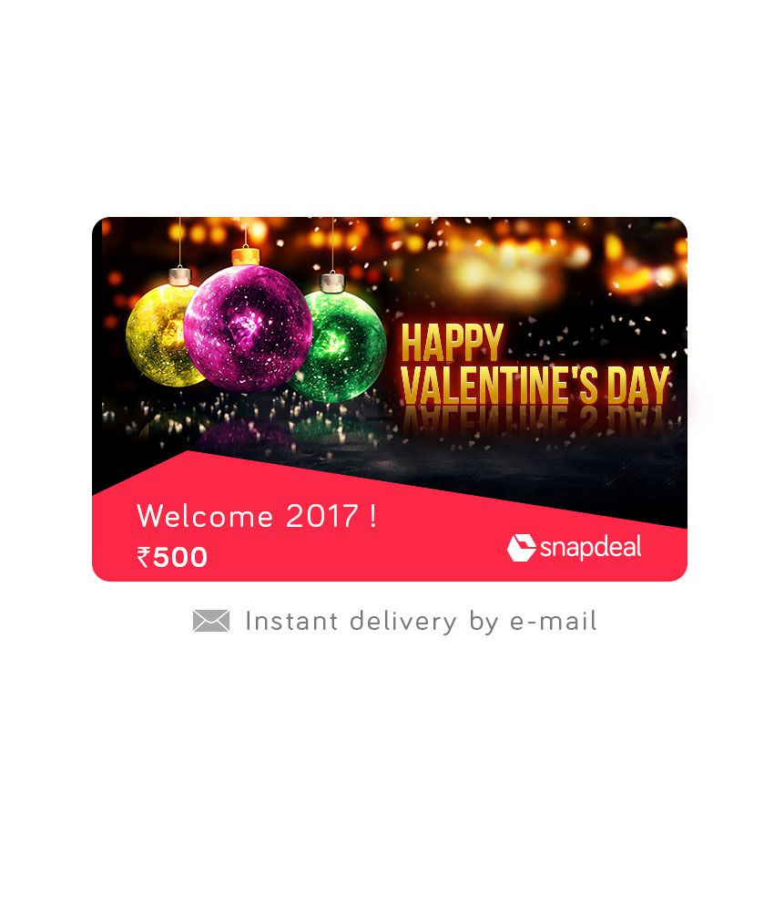 Snapdeal Valentine Day E-Gift Card