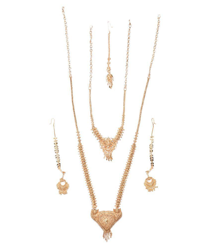 Urban Village One Gram Gold Necklace Set Combo