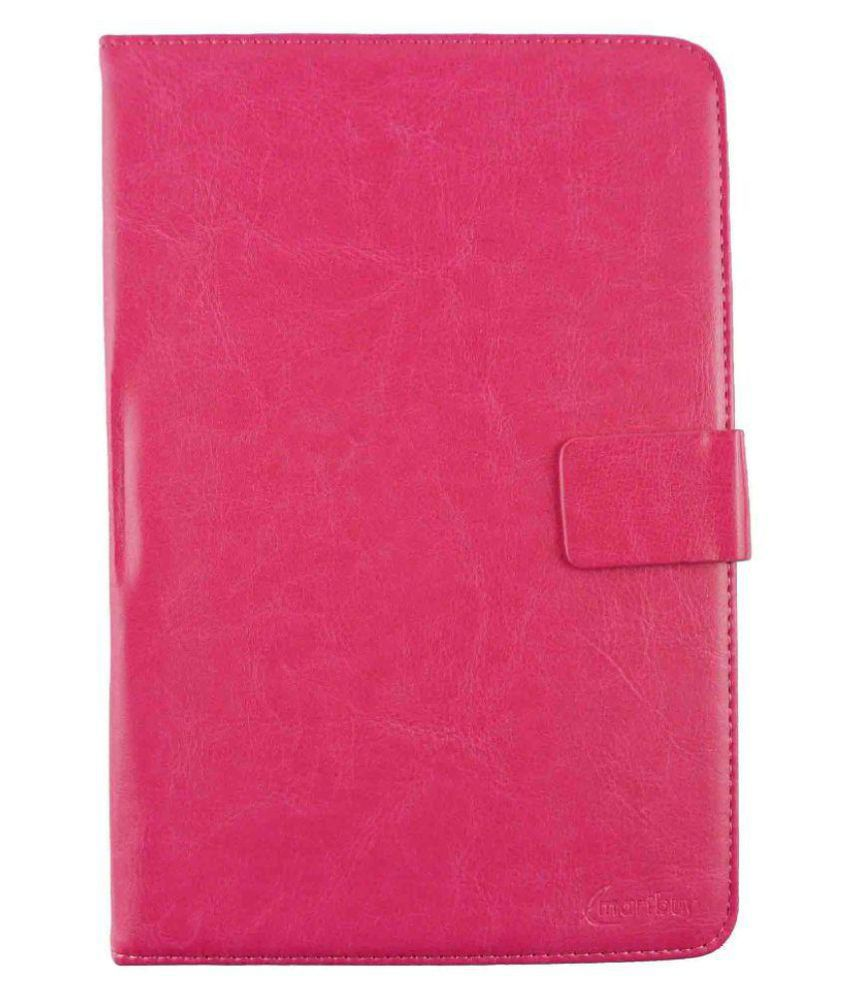 Micromax Canvas Tab P70221 Flip Cover By Emartbuy Pink