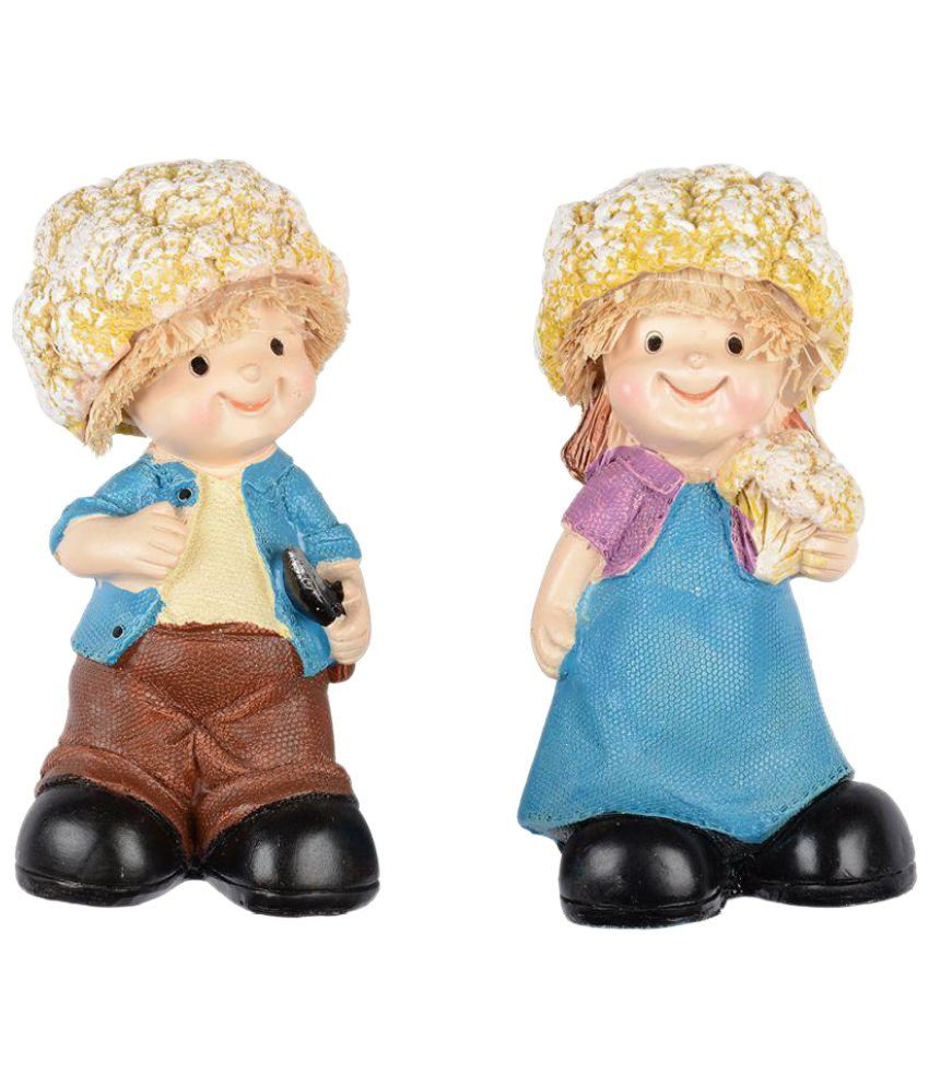 Zayn D Multicolour Ceramic Figurines 12