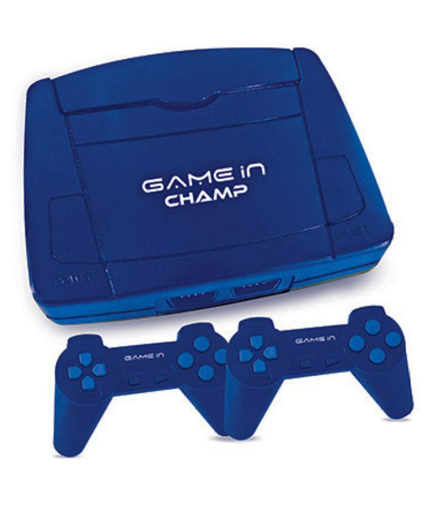 Mitashi Game In Champ Gaming Console with In Built Games-Blue