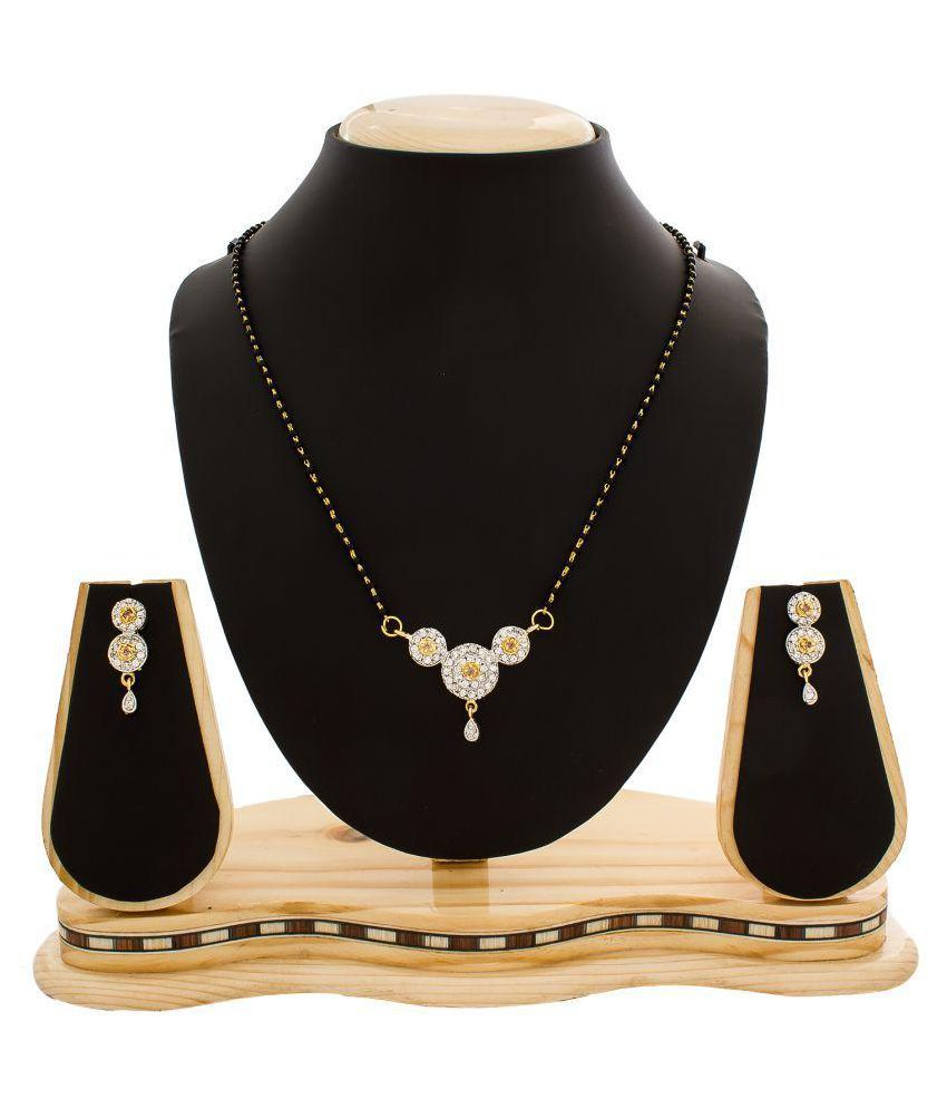 The Luxor Diamond Studded Gold Plated Mangalsutra Set