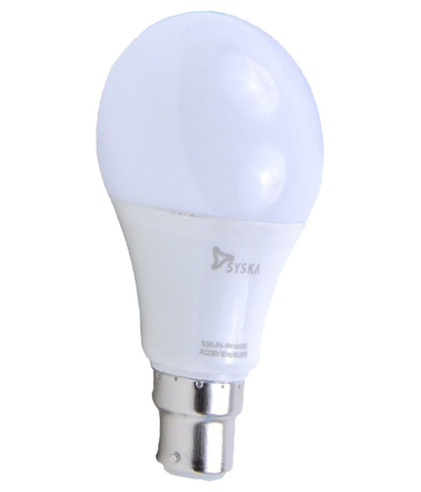 Syska 5W Single Led Bulbs   Cool Day Light
