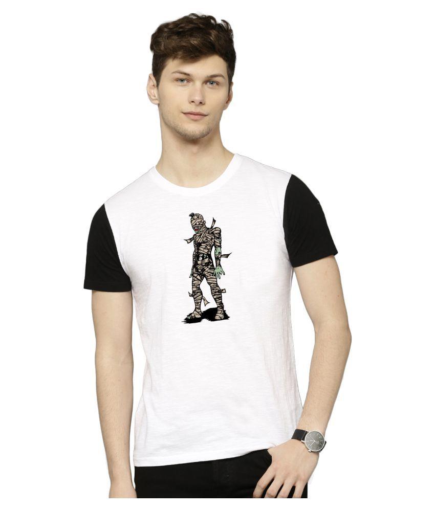 Atheno White Polyester T-Shirt