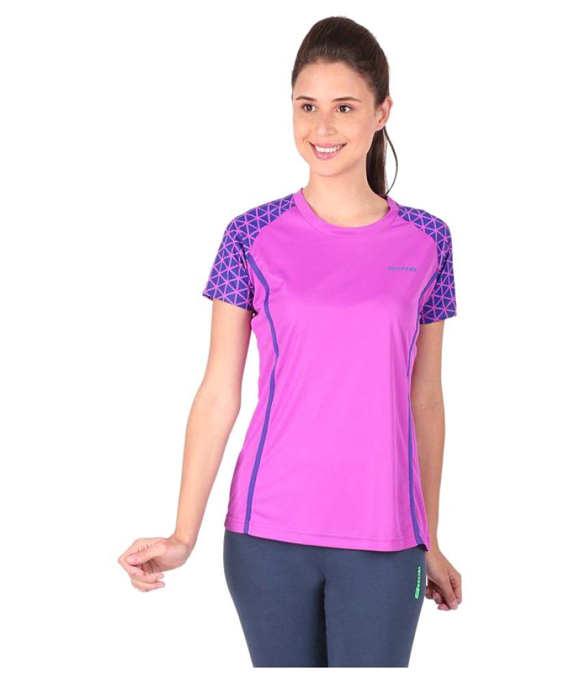 Vector X Printed Women's Round Neck Purple T-Shirt