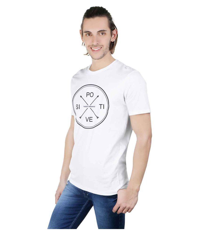 Twooft White Round T-Shirt