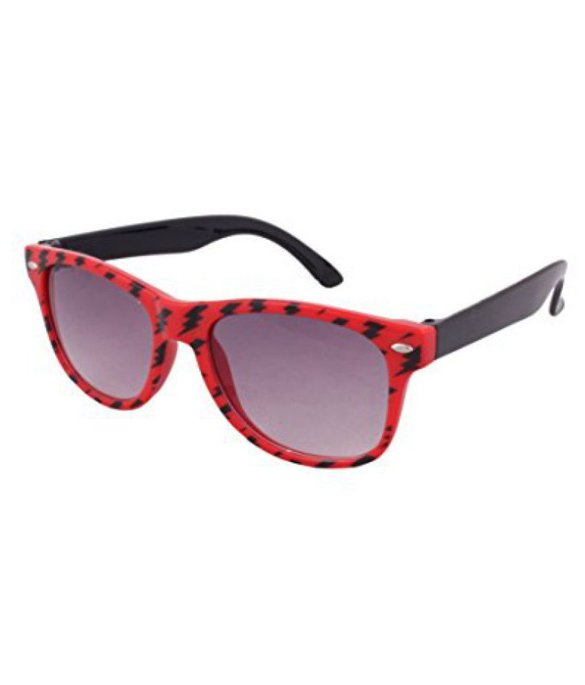 Stylish Black Red Wayfare Sunglass For Kids