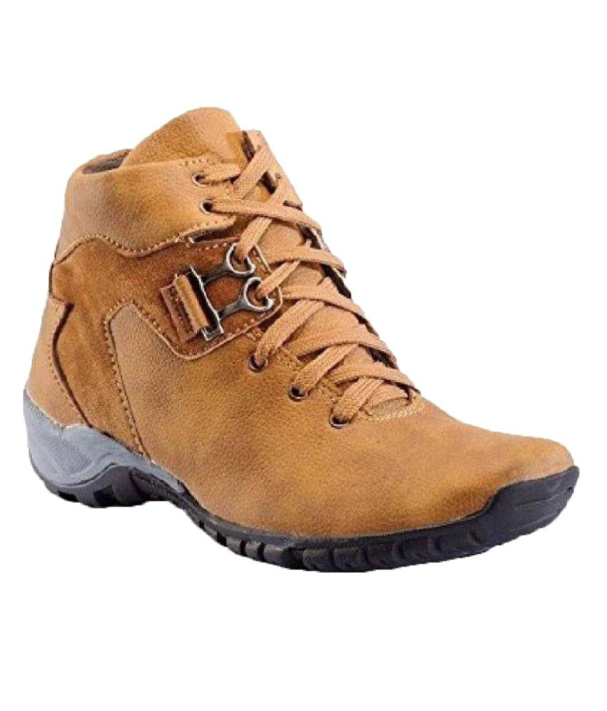 R M Shoes Tan Casual Boot