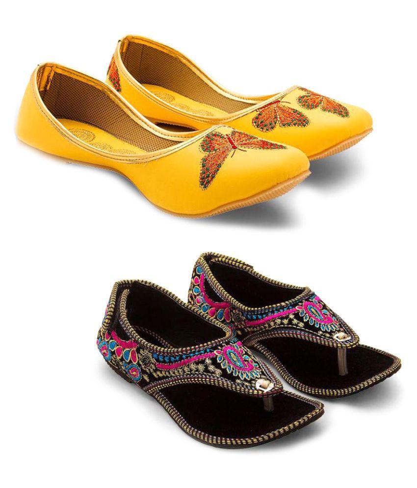 Great Art Multi Color Flat Heels - 2 Pairs