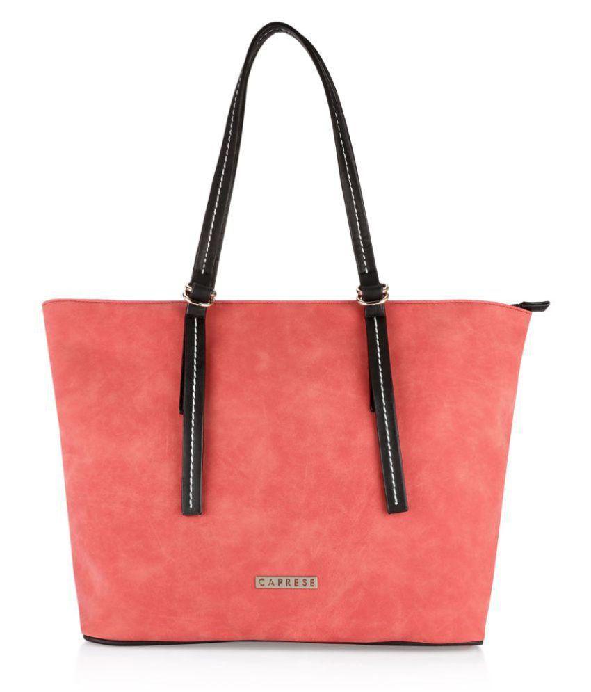 Caprese Red Faux Leather Shoulder Bag