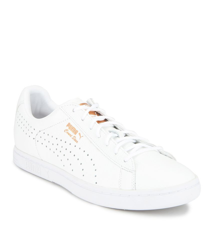 8e4e590f7 Puma Court Star Gold White Casual Shoes - Buy Puma Court Star Gold White  Casual Shoes Online at Best Prices in India on Snapdeal