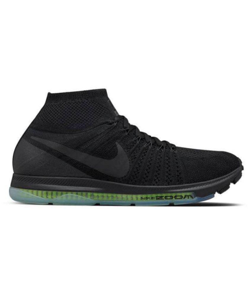 nike running shoes flyknit black. nike zoom allout flyknit black running shoes n