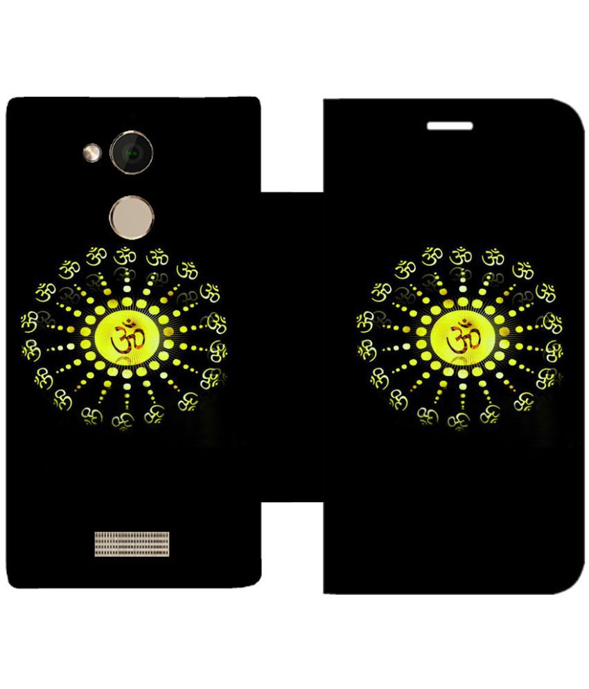 Coolpad Note 5 Flip Cover by Skintice - Black