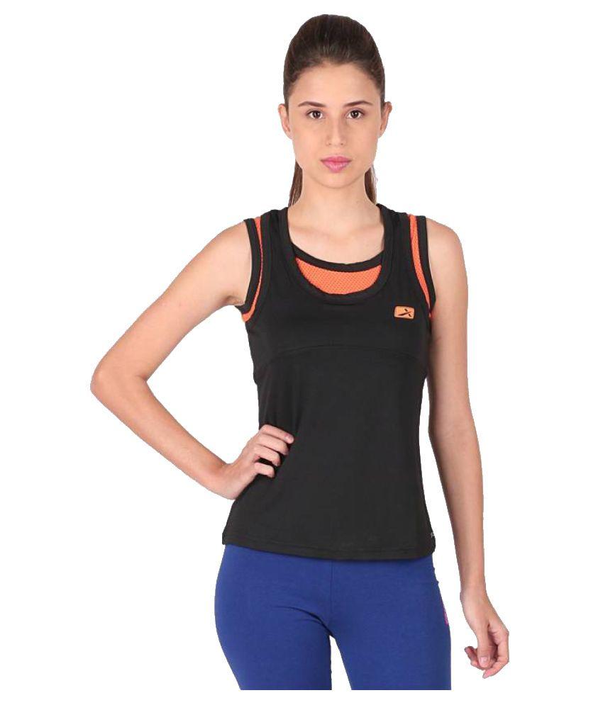 Vector X Black Round Neck T-Shirt