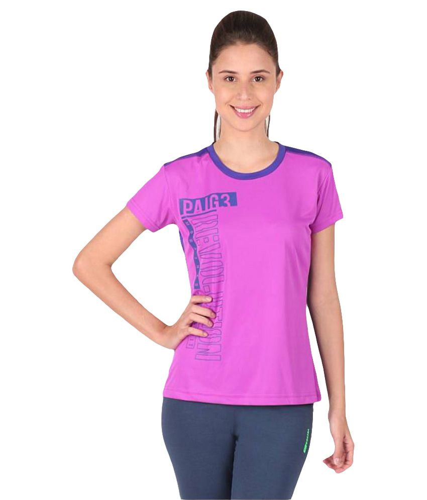 Vector X Purple-Blue Round Neck T-Shirt