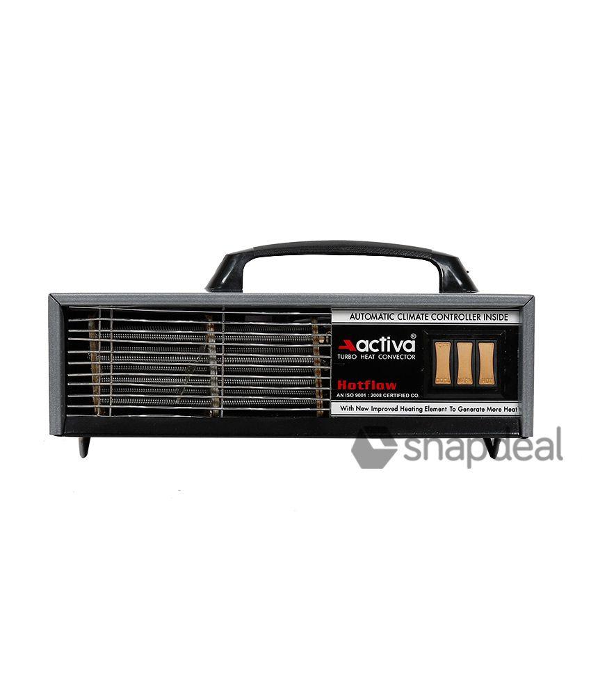 Activa 2000 Hot Flow Room Heater Metallic Grey
