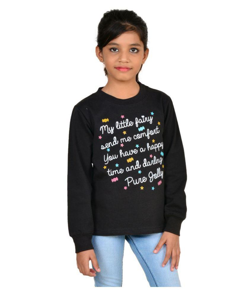 Wardtrobe Black Color Printed Long Sleeve Sweatshirts