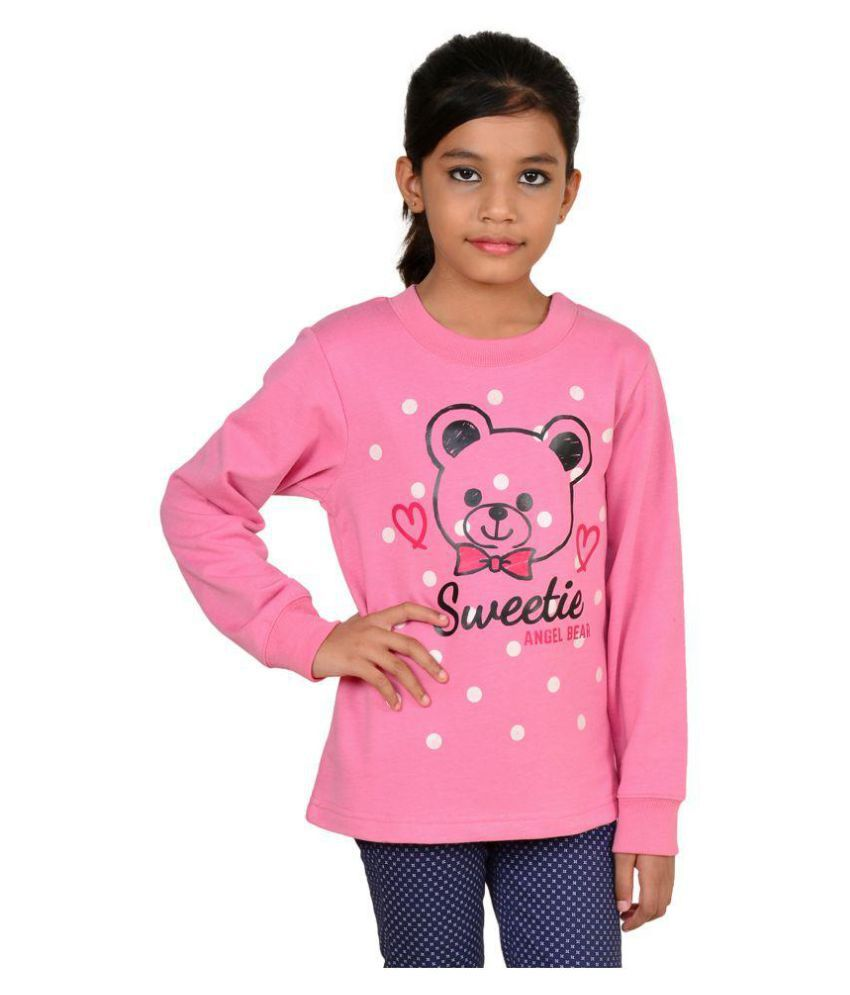 Wardtrobe Pink Color Printed Long Sleeve Sweatshirt