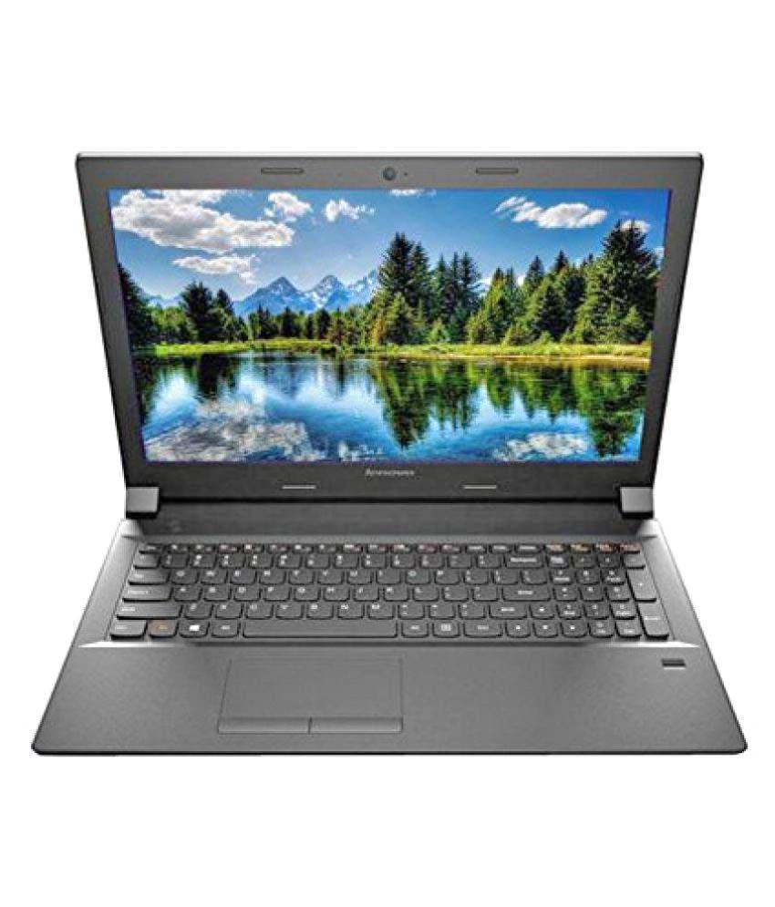 Lenovo B50-80 Notebook (80EW05SAIH) (5th Gen Intel Core i3- 4GB RAM- 1TB HDD- 39.62 cm(15.6)- DOS) (Black)