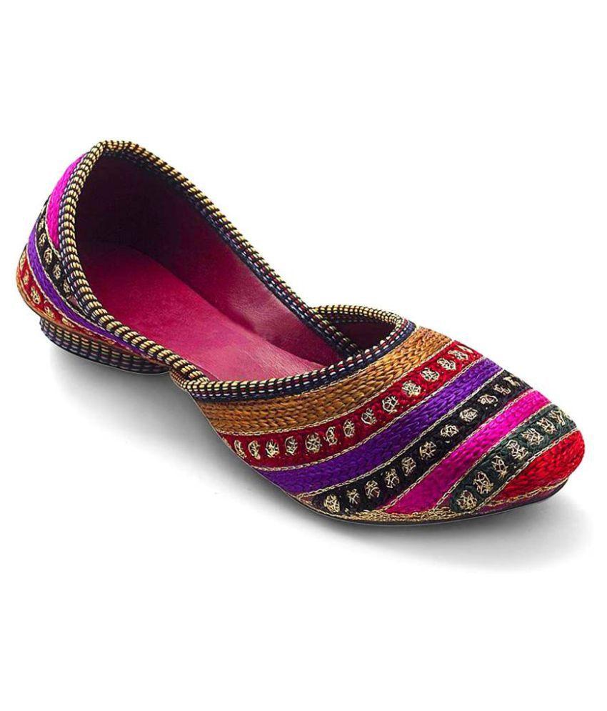 Great Art Multi Color Block Ethnic Footwear