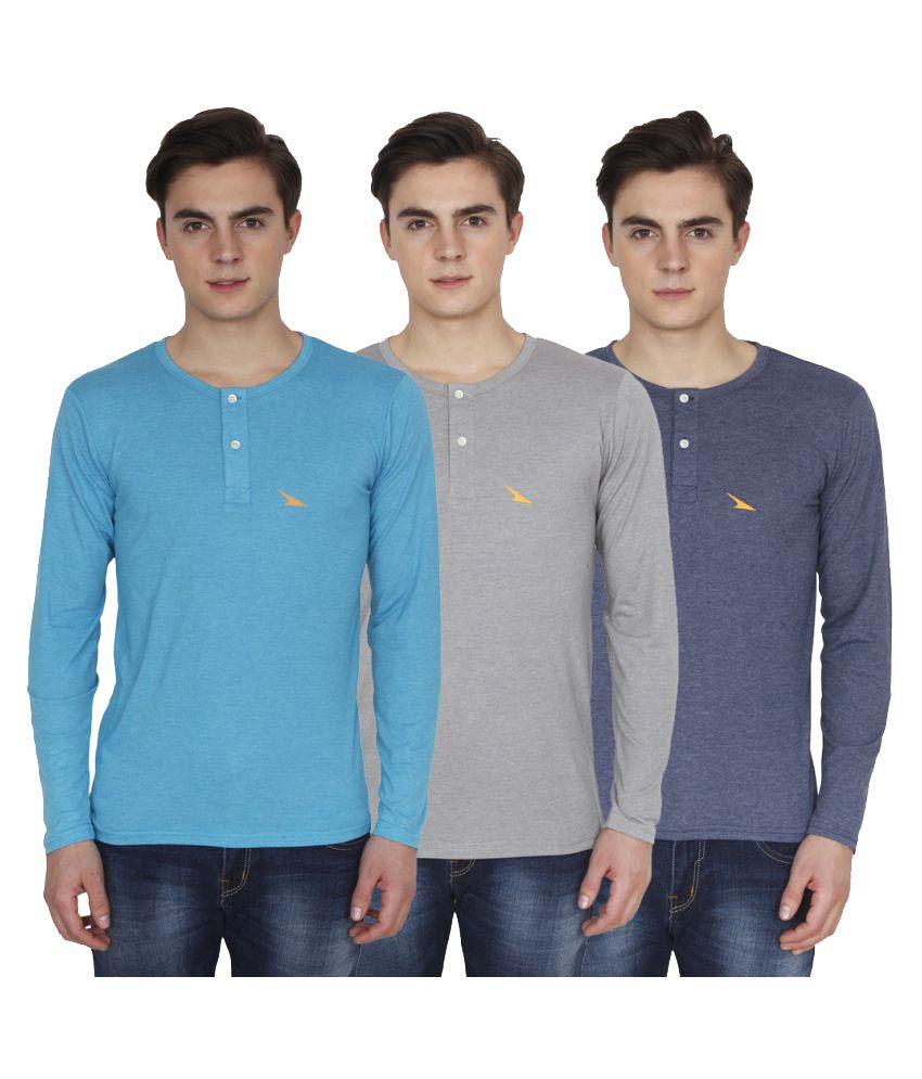 PRO Lapes Multi Henley T-Shirt Pack of 3