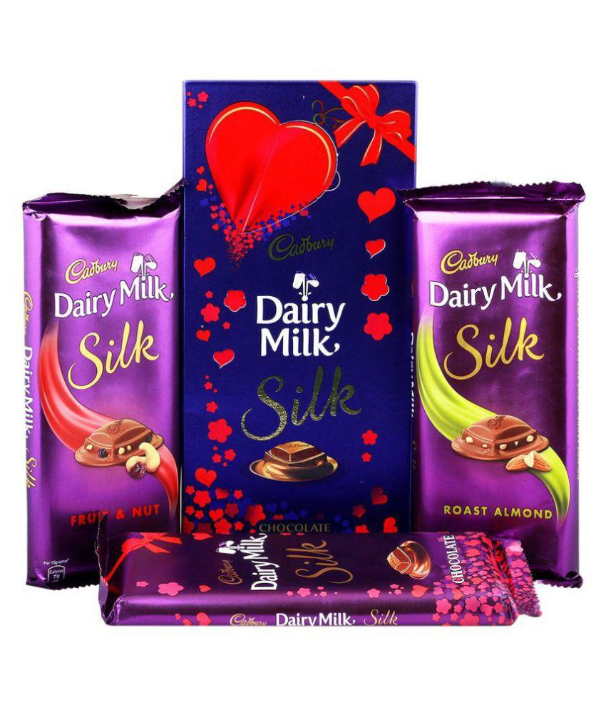 Cadbury Dairy Milk Silk Fruit Nut Roasted Almond Plain Silk