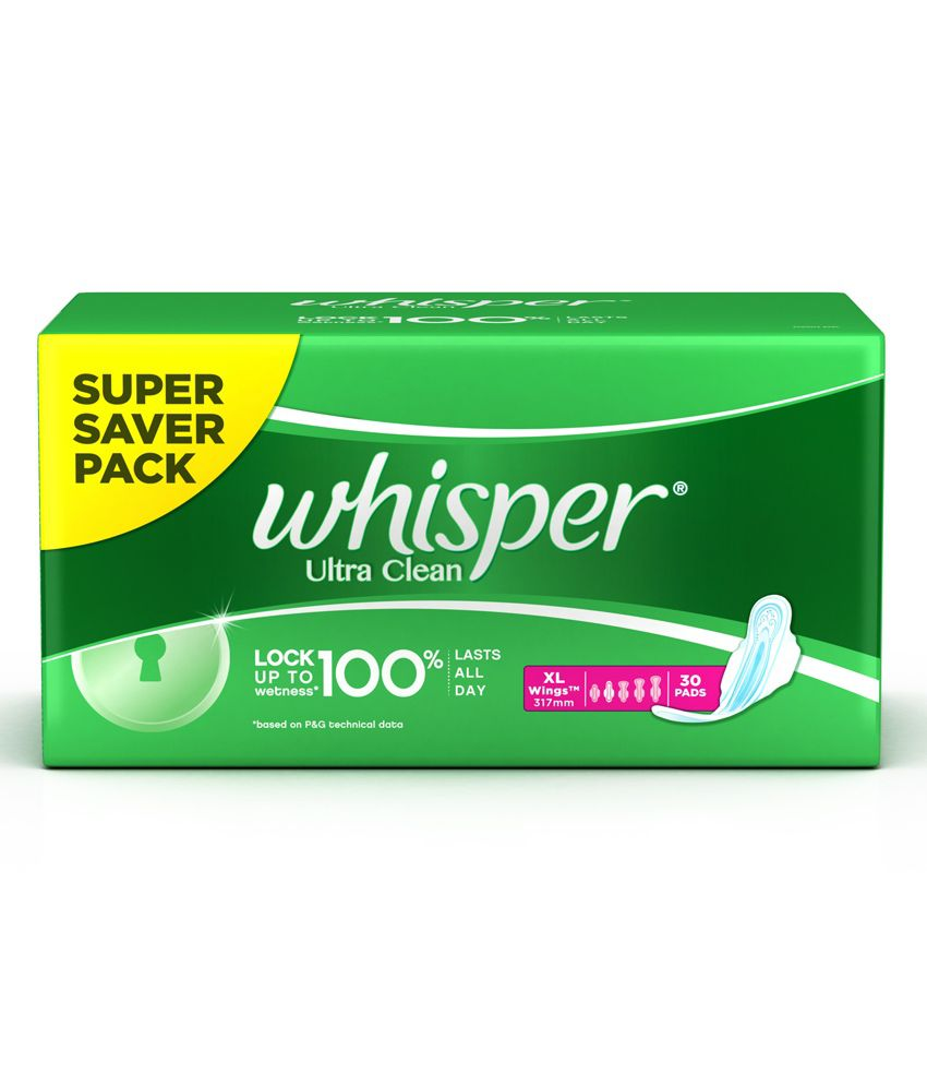 Whisper Ultra Clean XL Sanitary Pads-30Pcs