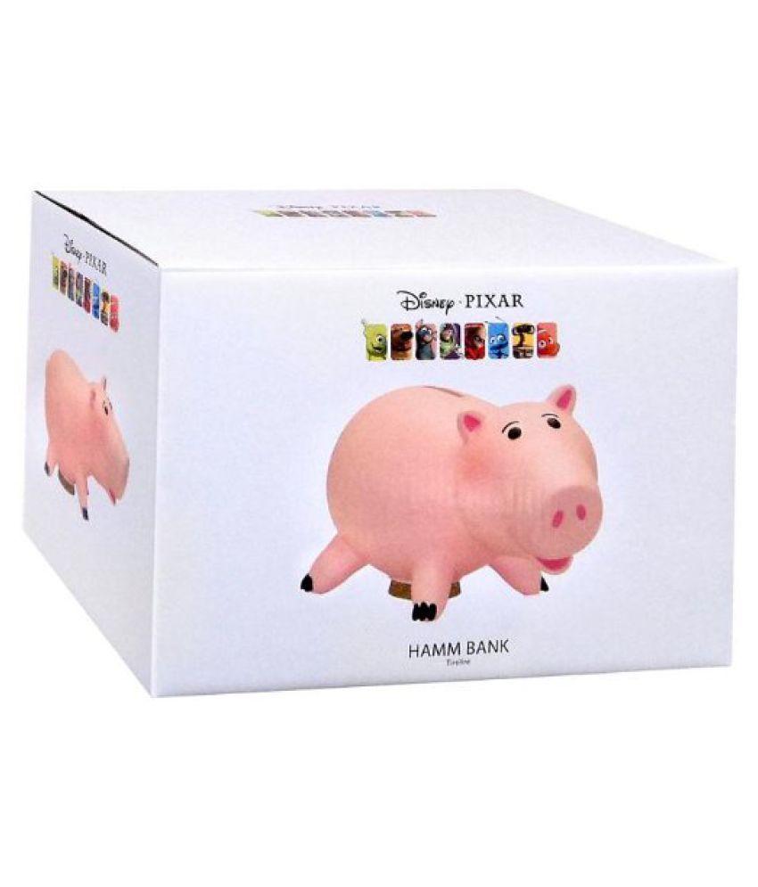 "Disney Pixar Toy Story Hamm Piggy Bank 8"" Hard Plastic New in Box"