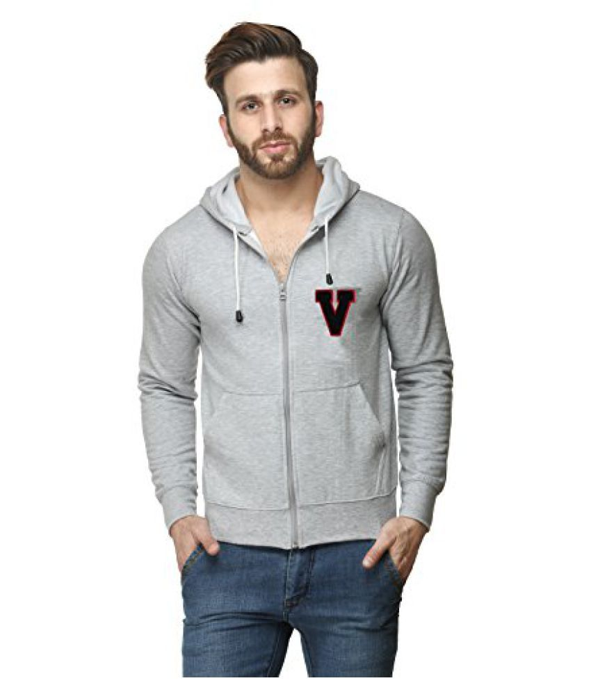Grey Cotton Comfort Styled Hooded Sweatshirt