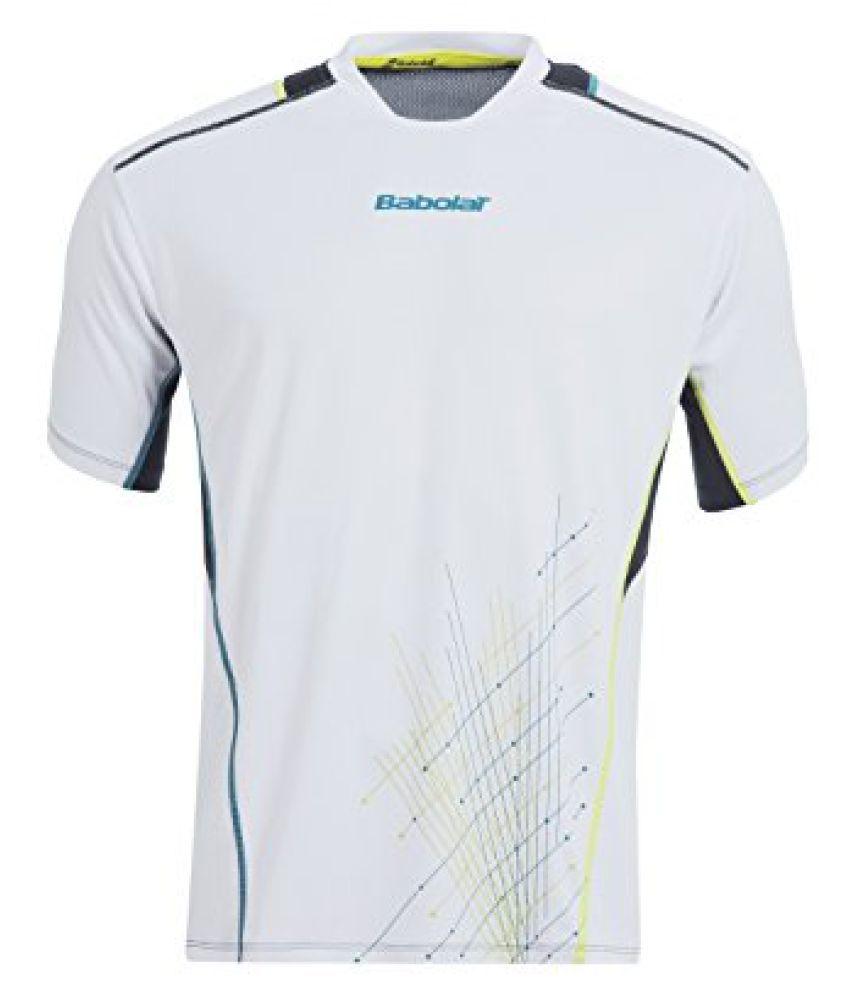 Babolat 40S1508 101 Running T-Shirt, Mens Small (White)