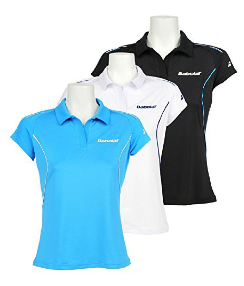 Babolat 41S1463-111 Core Match Polo, Women's X-Large (Turquoise Blue)