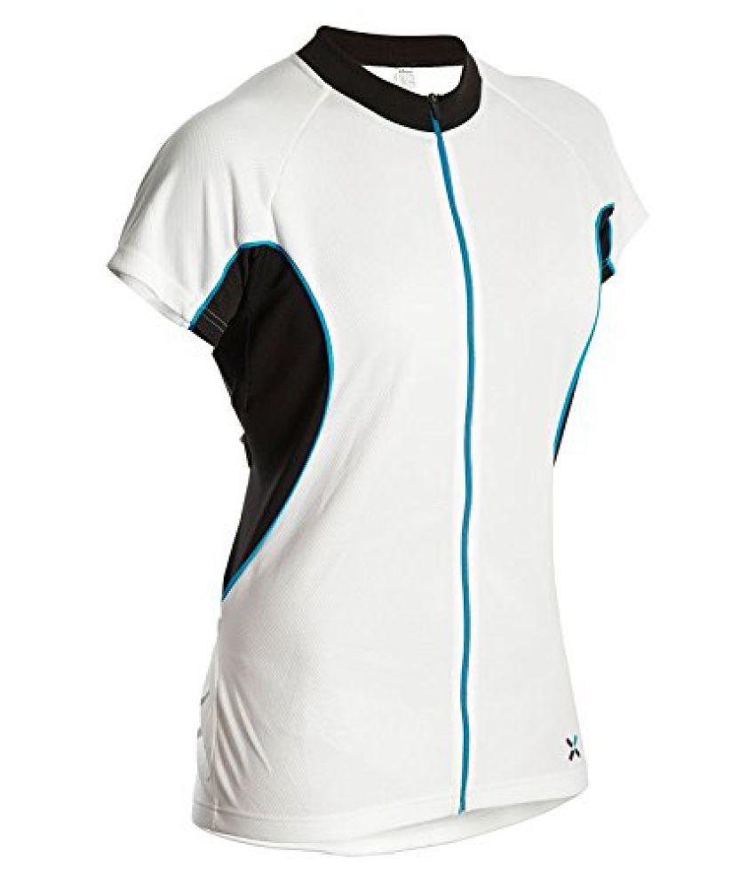 Btwin Jersey-700-Women White Blue - Size S