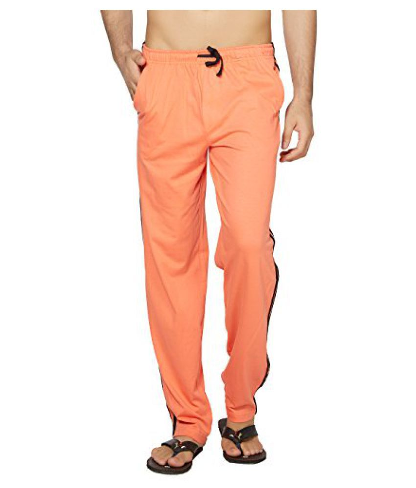 Clifton Mens Coloured Track Pants - Deep Orange (Deep Orange, XXXX-Large)