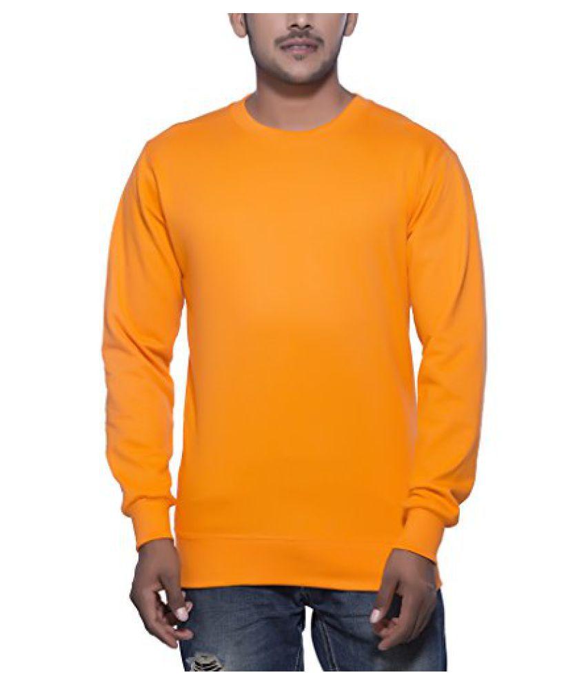 Clifton Mens Cotton Sweat Shirt R-Neck-Bright Orange