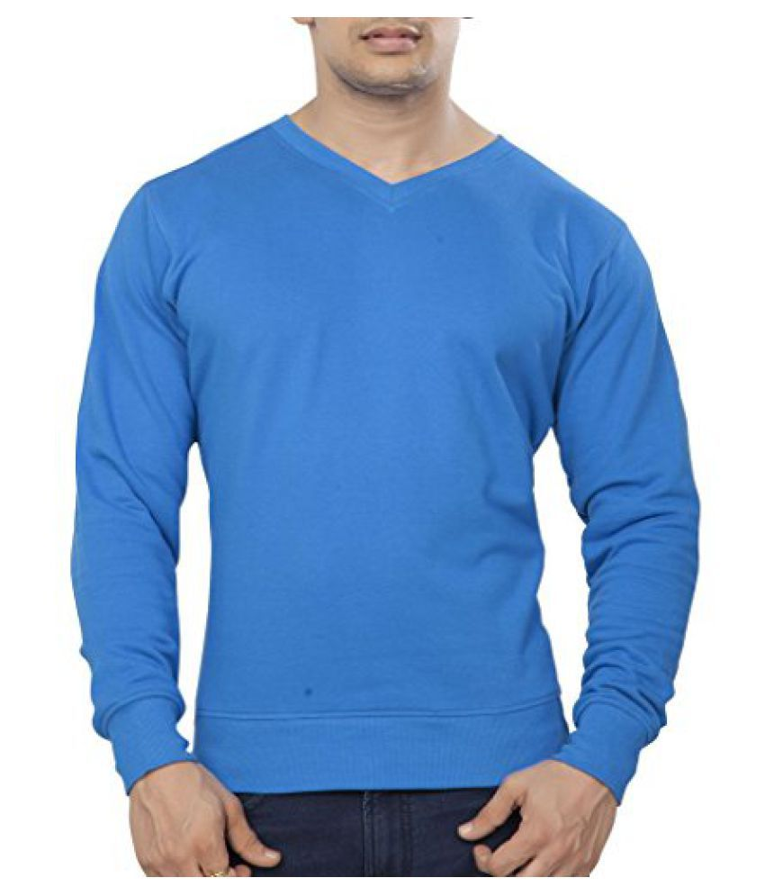 Clifton Mens Polar V-Neck Sweat Shirt - Royal Blue - XX-Large