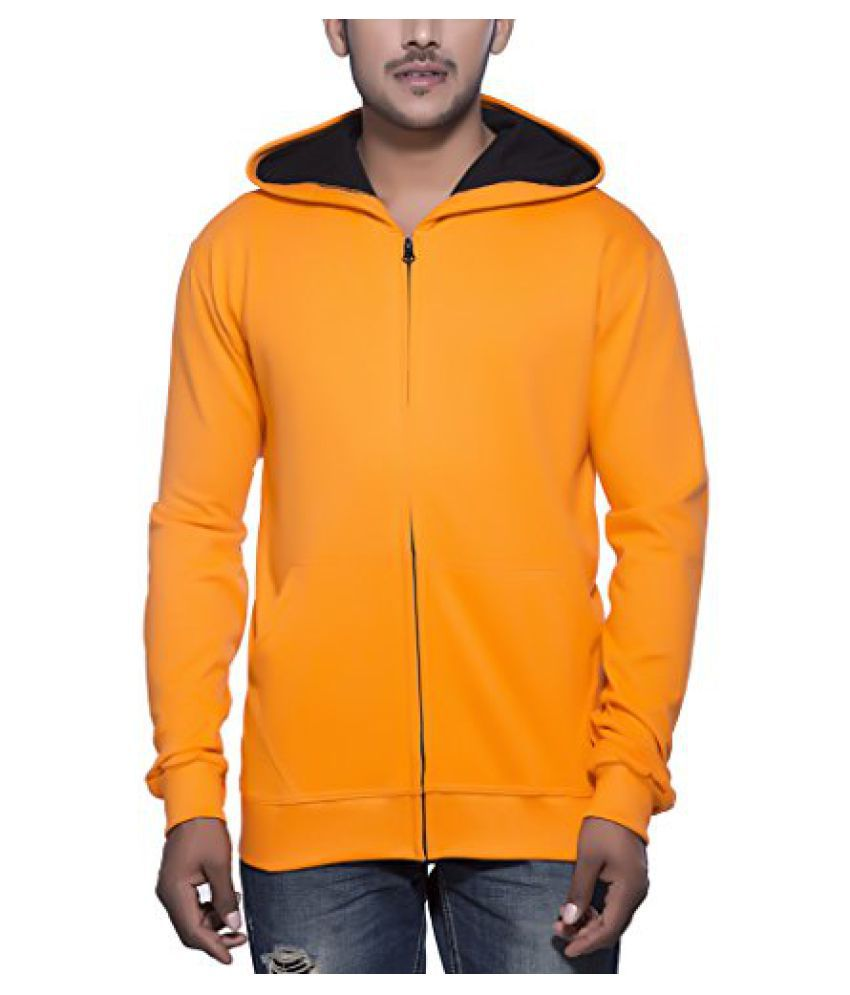 Clifton Mens Sweat Shirt With Hood-Bright Orange