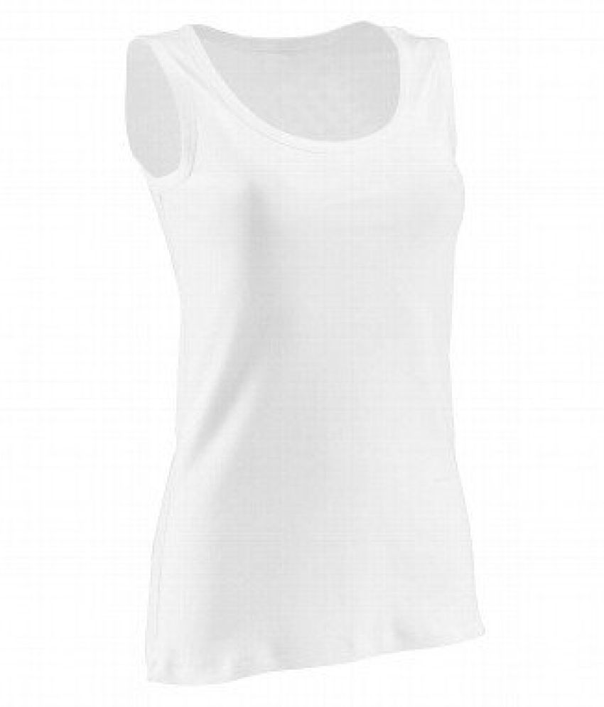 Domyos Basic Organic Cotton Tank Top White - Size M