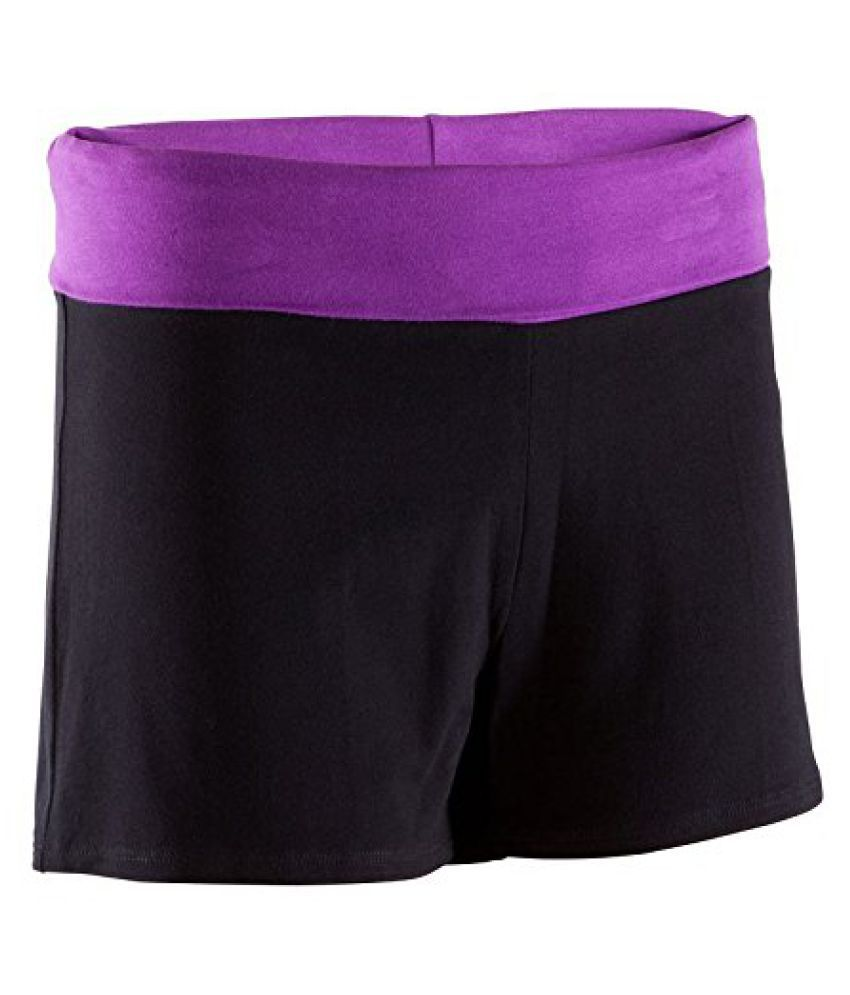 Domyos Organic Cotton Shorts Black - Size XXL