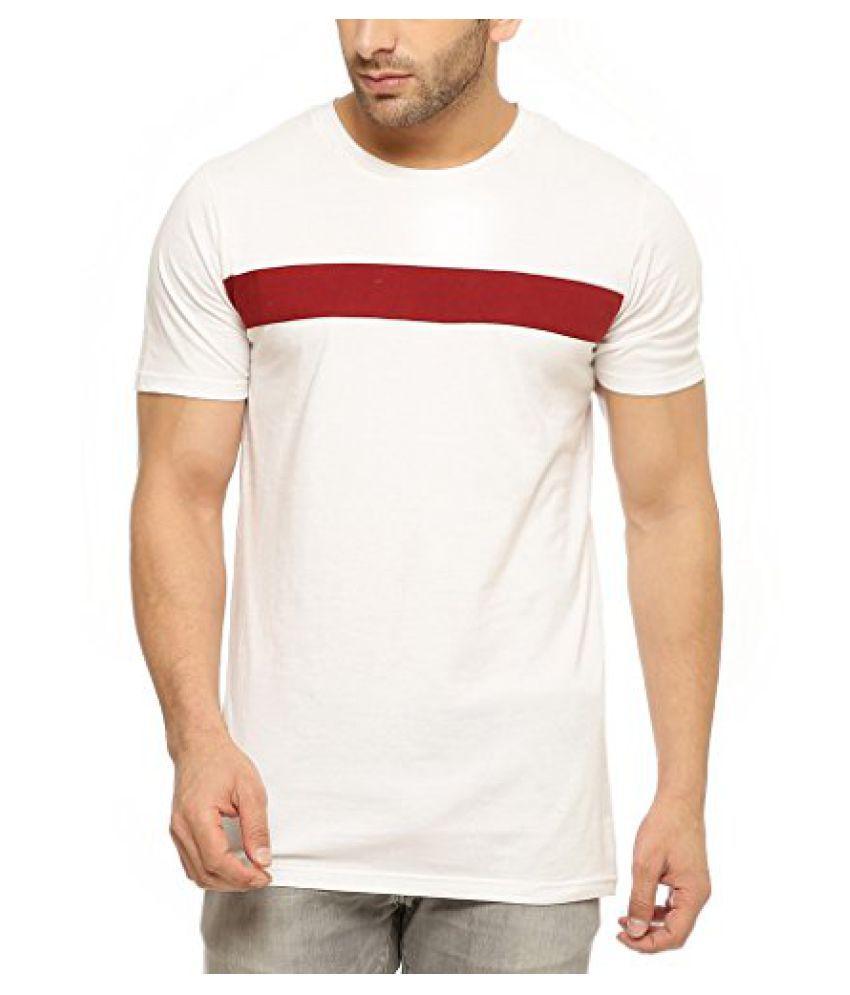 Gritstones Half Sleeve Round Neck T Shirt GSHSTSHT1301WHTMRN