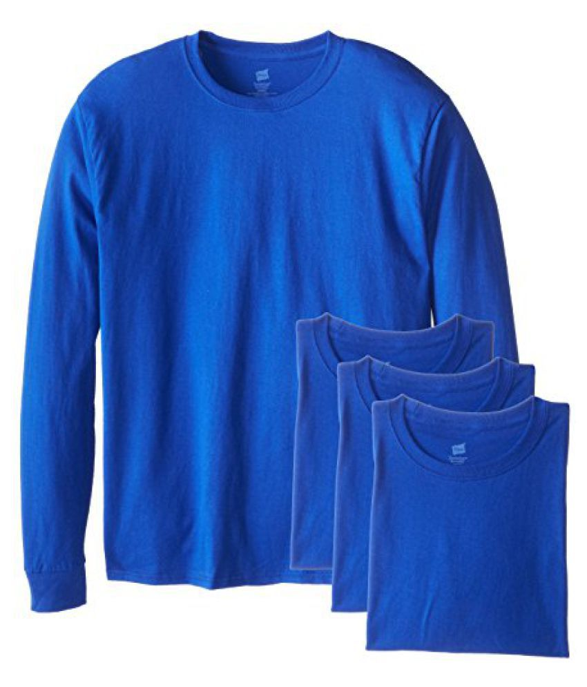 Hanes Mens 4 Pack Long Sleeve Comfortsoft T-Shirt