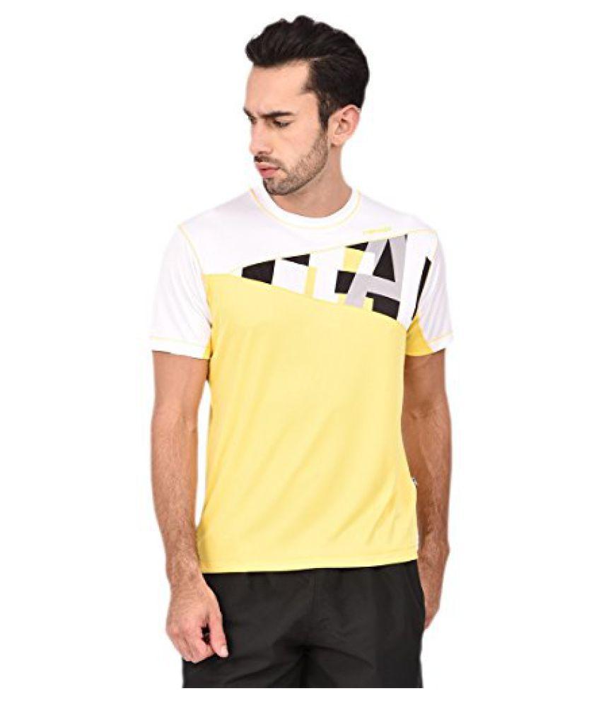 Head HCD-240 Men'S Round Neck T-Shirt-Blk/White/Yellow Size - XL