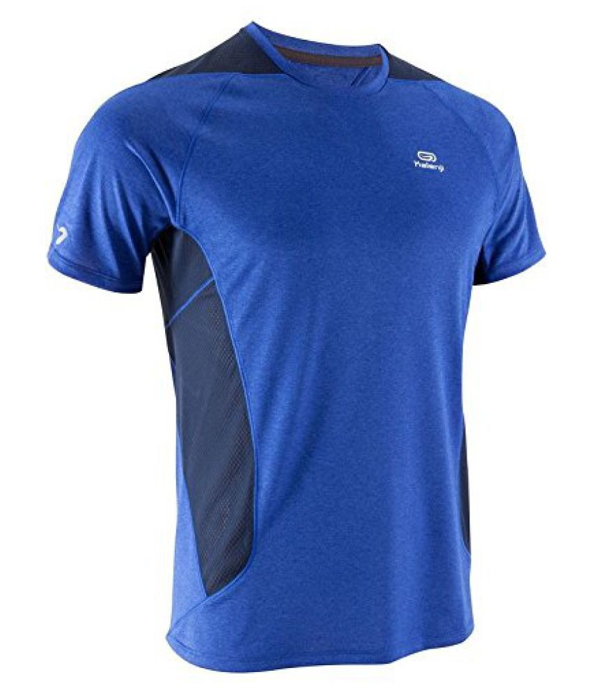 KALENJI ELIO MEN'S RUNNING T-SHIRT - BLUE