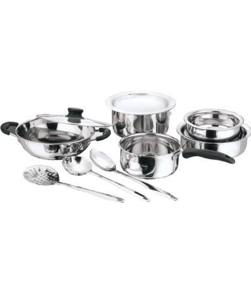 Kitchen Essentials 10pc Kitchen Pride Stainless Steel Cookware Set