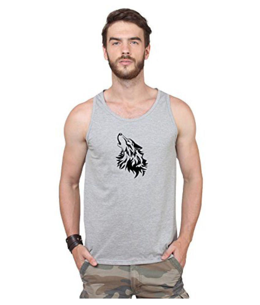 Men's Dri-fit Graphic Printed Sports Sando For Sports&Fitness